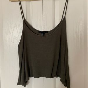 Forever XXI Olive Green Tank